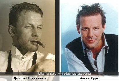 Дмитрий шевченко и Микки Рурк