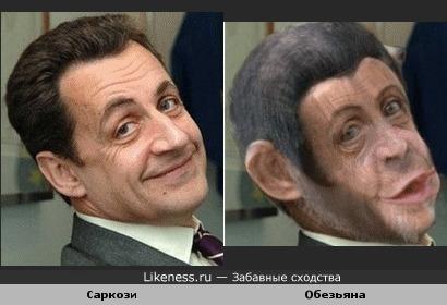 Саркози похож на обезьяну