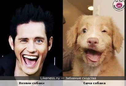 Собака похожа на своего хозяина