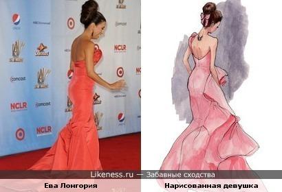 Ева Лонгория похожа на рисунок.