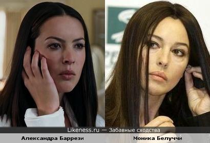 Александра Баррези похожа на Монику Белуччи