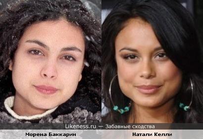 Морена Баккарин и Натали Келли