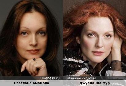 Светлана Аманова и Джулианна Мур