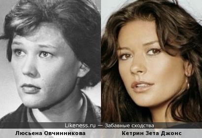 Люсьена Овчинникова и Кетрин Зета Джонс