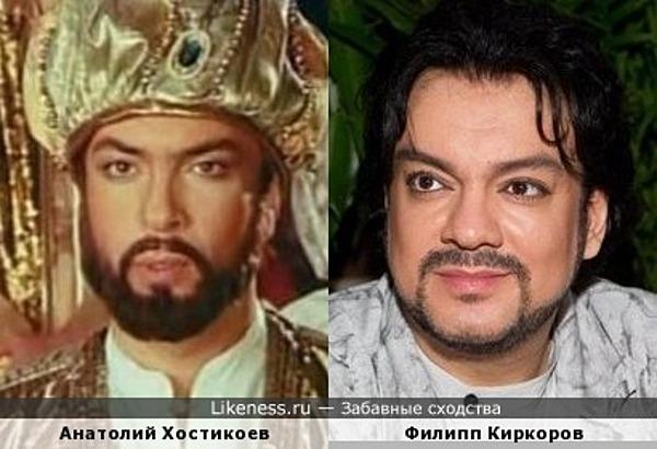 Анатолий Хостикоев в образе султана напомнил Филиппа Киркорова)