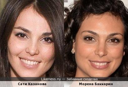 Сати Казанова и Морена Баккарин