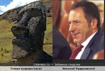 Профиль Рудьковского напоминает статую с острова пасхи