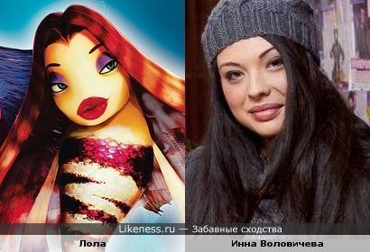 Инна Воловичева и рыбка Лола из Подводной братвы.