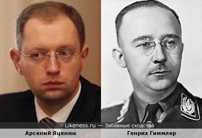 Арсений Яценюк и Генрих Гиммлер похожи