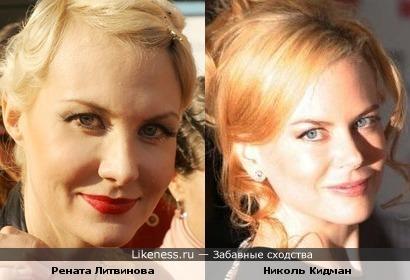Рената Литвинова специально копирует Николь Кидман?