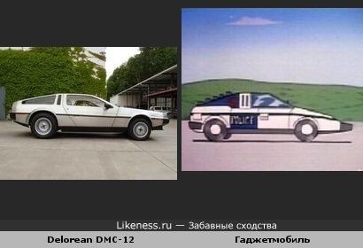Delorean DMC12 похож на Гаджетмобиль