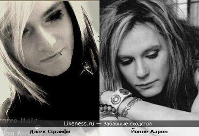 Экс-вокалист группы Cinema Bizarre Страйфи чем-то неуловимо напоминает Йонне Аарона (Negative))