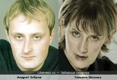 Татьяна Орлова и Андрей Зибров похожи