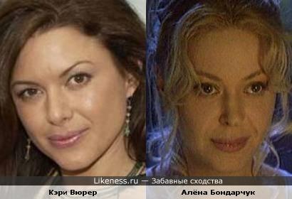 Кэри Вюрер и Алёна Бондарчук ...