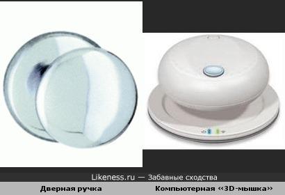 Дверная ручка и компьютерная мышка