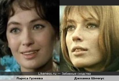 Лариса Гузеева и Джоанна Шимкус