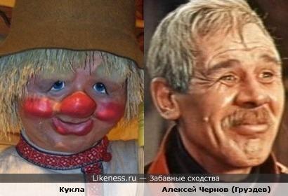 Кукла напомнила актёра Алексея Чернова