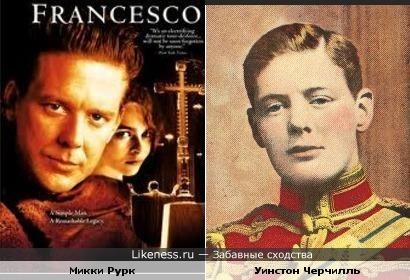 Микки Рурк и и Уинстон Черчилль
