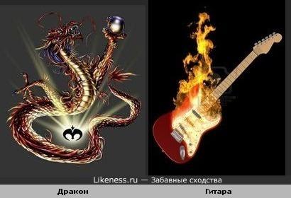 Ассоциация:дракон и гитара