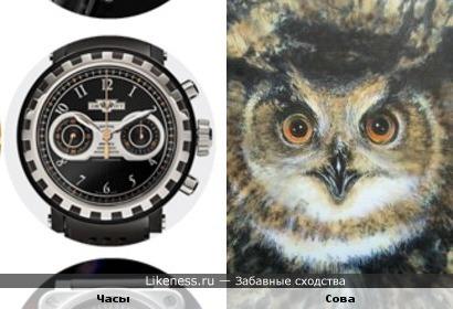 Часы и сова