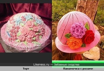 Тортик напоминает панамочку