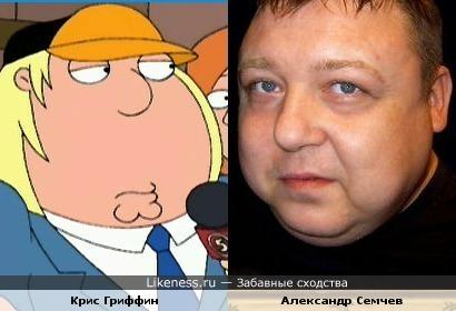 Персонаж мультсериала «Гриффины» Кристофер Кросс Гриффин и Александр Семчев