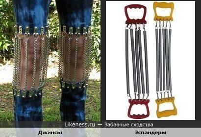 """Модные джинсы с """"эспандерами"""""""