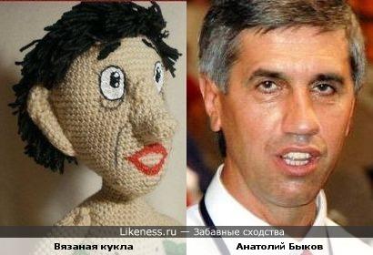 Кукла напомнила Анатолия Быкова