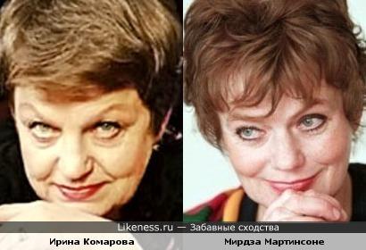 Ирина Комарова и Мирдза Мартинсоне