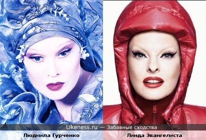 Людмила Гурченко и Линда Эвангелиста