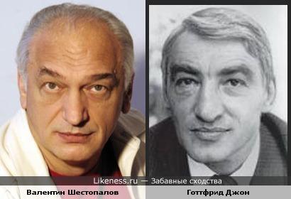Валентин Шестопалов и Готтфрид Джон