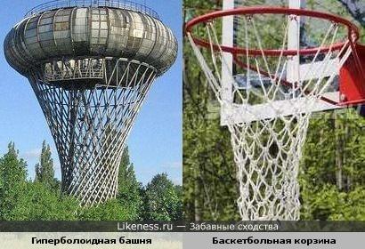 Гиперболоидная башня похожа на баскетбольную корзину