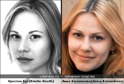 Кристин Бут напомнила Анну Каменкову