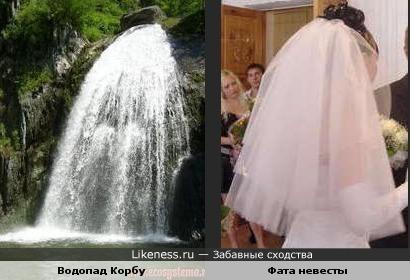 Водопад Корбу в Алтайском заповеднике напоминает фату невесты