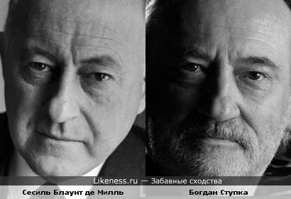 Сесиль Блаунт де Милль и Богдан Ступка