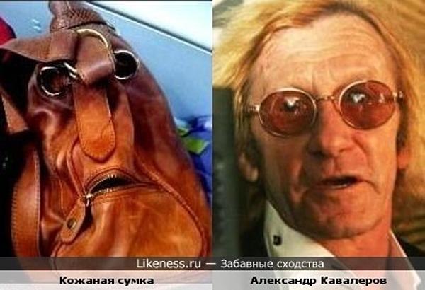 Кожаная сумка и Александр Кавалеров