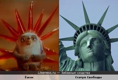 Ёжик и Статуя Свободы