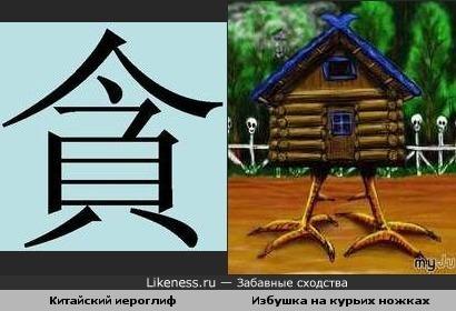Китайский иероглиф и избушка на курьих ножках