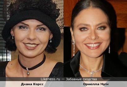 Диана Корсс и Орнелла Мути
