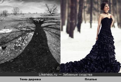 Чёрные платья с длинным шлейфом