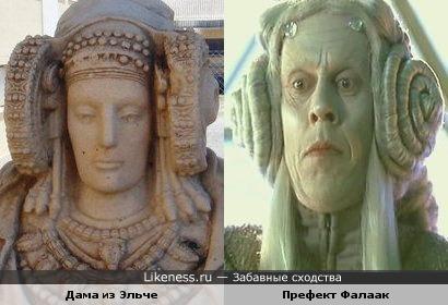 Дама из Эльче (IV век до н. э.) и Брюс Спенс (Prefect Falaak)
