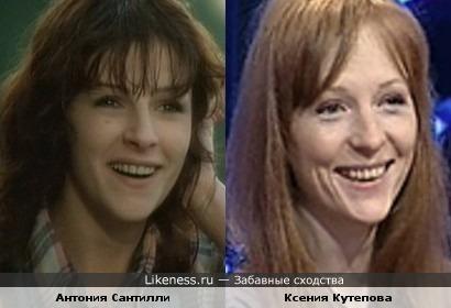 Антония Сантилли и Ксения Кутепова