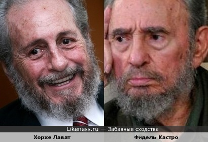Хорхе Лават и Фидель Кастро