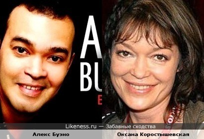 Алекс Буэно и Оксана Коростышевская