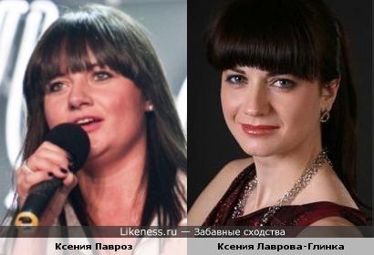 Ксения Павроз и Ксения Лаврова-Глинка
