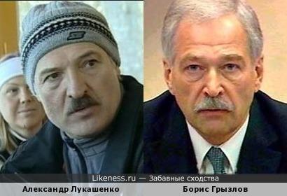 Александр Лукашенко и Борис Грызлов