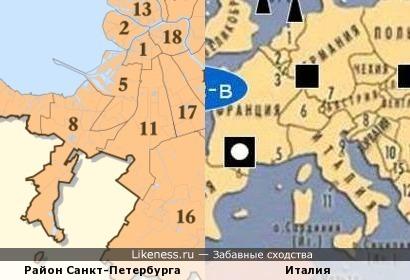 Красносельский район Санкт-Петербурга и Италия