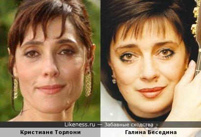 Кристиане Торлони и Галина Беседина