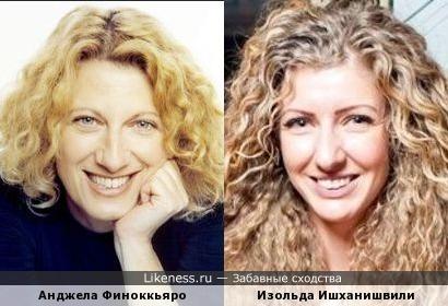 Анджела Финоккьяро и Изольда Ишханишвили