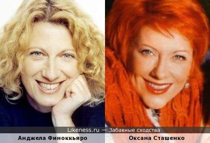Анджела Финоккьяро и Оксана Сташенко